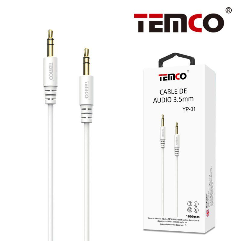 Cable Audio 3.5mm Blanco