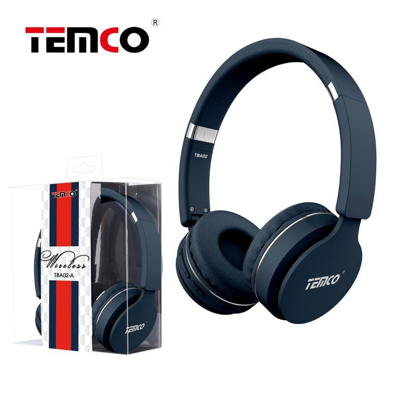 Cascos con cable y bluetooth azul