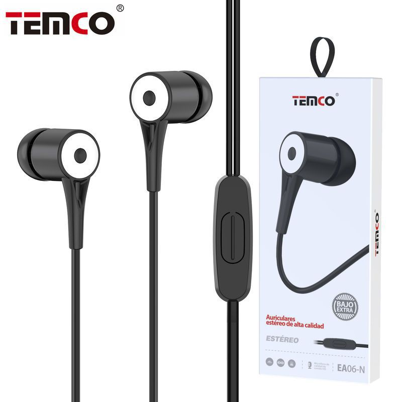 Auriculares 3.5mm EA06 Negro