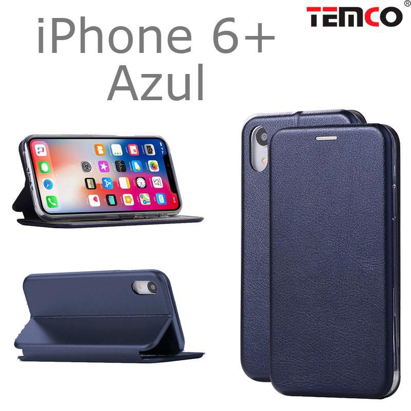 Funda concha iphone 6+ azul