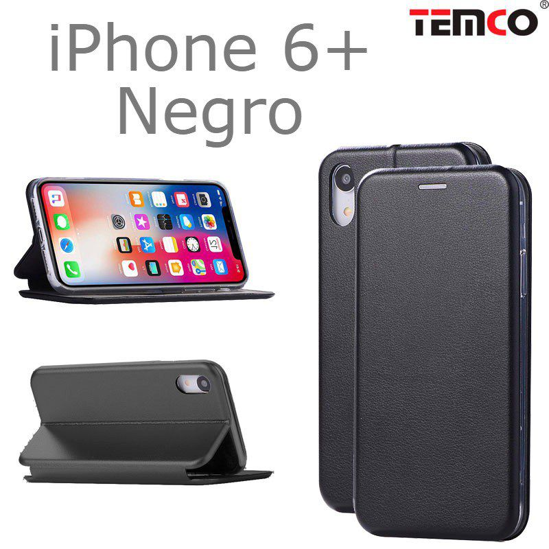 Funda concha iphone 6+ negro