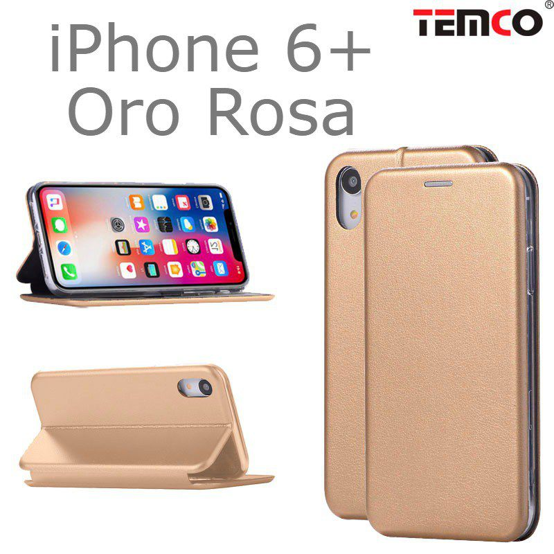 Funda concha iphone 6+ oro rosa