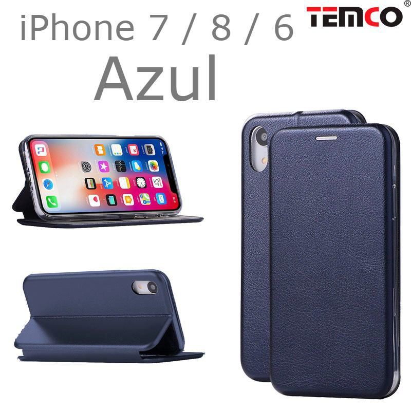 Funda concha iphone 7 / 8 / 6 azul