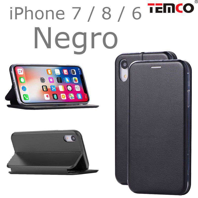 Funda concha iphone 7 / 8 / 6 negro