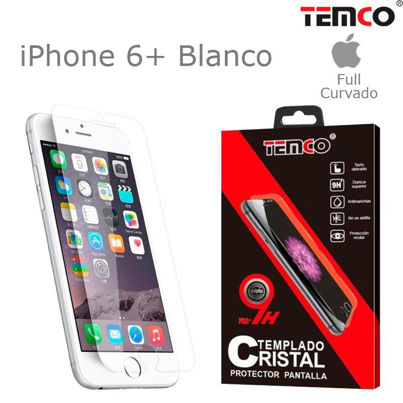 Cristal full 3d iphone 6+ blanco