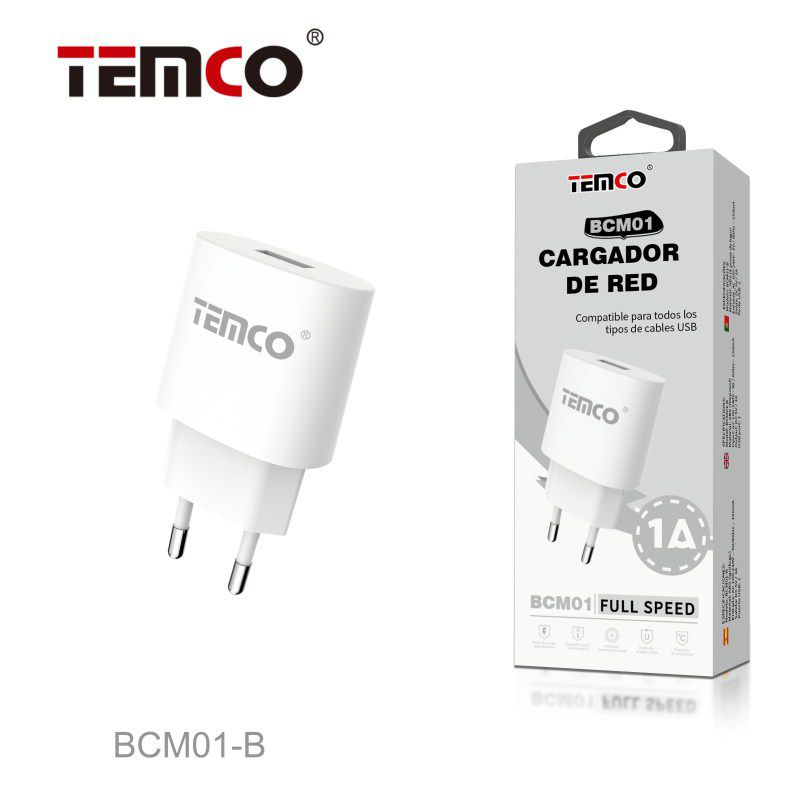 Cargador red usb 5v 1a blanco