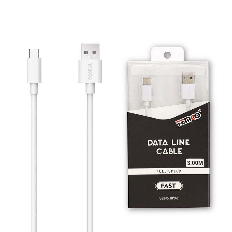 Cable 1A 3m Tipo C Blanco