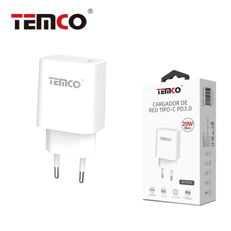 Cargador Red Tipo-C PD3.0 20W Blanco