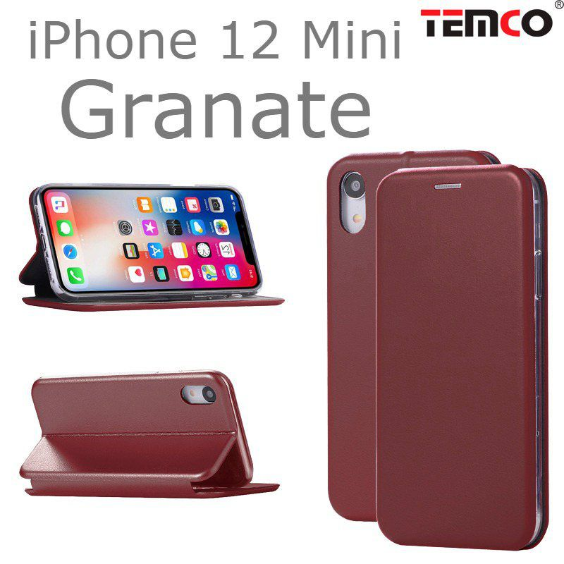 Funda Concha iPhone 12 Mini Granate