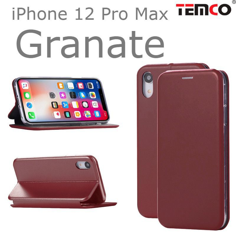 Funda Concha iPhone 12 Pro Max Granate
