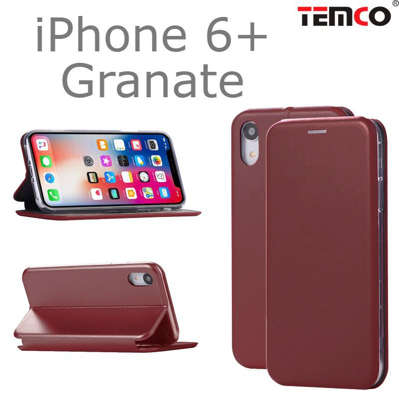 Funda Concha iPhone 6+ Granate